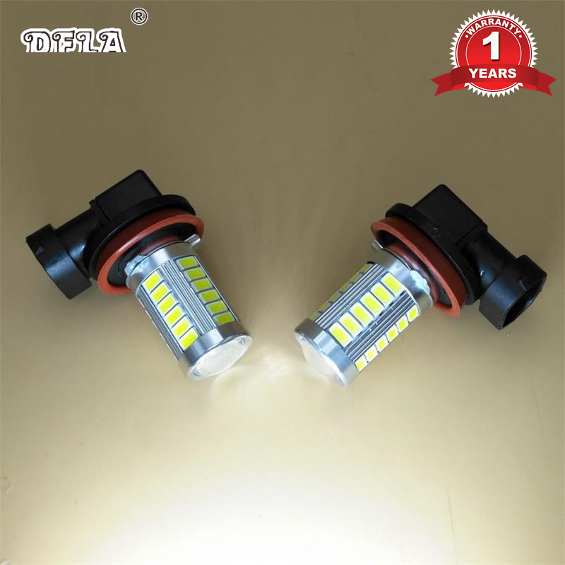 2 pcs LED Car Light Bulbs For VW Polo Vento Sedan Saloon 2011 2012 2013 2014 2015 2016 New LED Fog Light Fog Lamp Bulbs right side for vw polo vento derby 2014 2015 2016 2017 front halogen fog light fog lamp assembly two holes