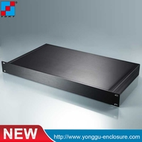 19 Inch Rack Mount Chassis Amplifer Chassis Al 6063 Extrusion Caze Al 6063 Extrusion Shell Al