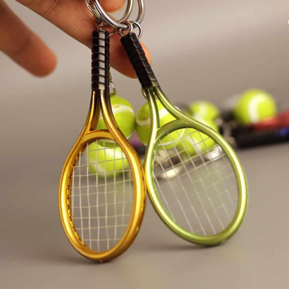 LLavero de tenis de 6 colores, raqueta de tenis, modelo, Llaveros, Mujer, creativo, Portachiavi 2017