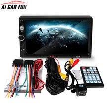 2din автомобиля Радио автомобиля mp5 плеер 7010b Сенсорный экран Авто аудио стерео Мультимедиа Поддержка заднего вида Камера FM/mp5/ USB/AUX/Bluetooth