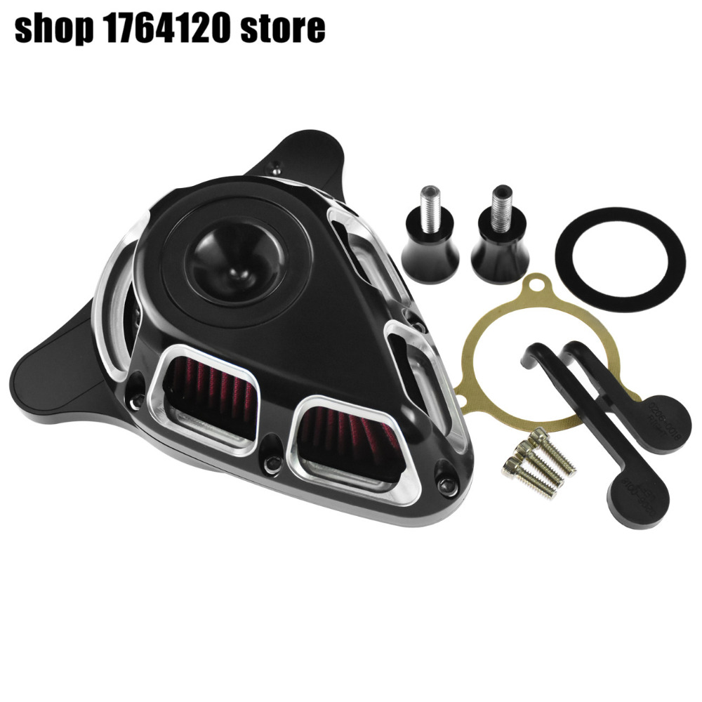 Motorcycle Turnable Air Cleaner Air Filter System Black Chrome For Harley Touring Electra Glide Road Glide
