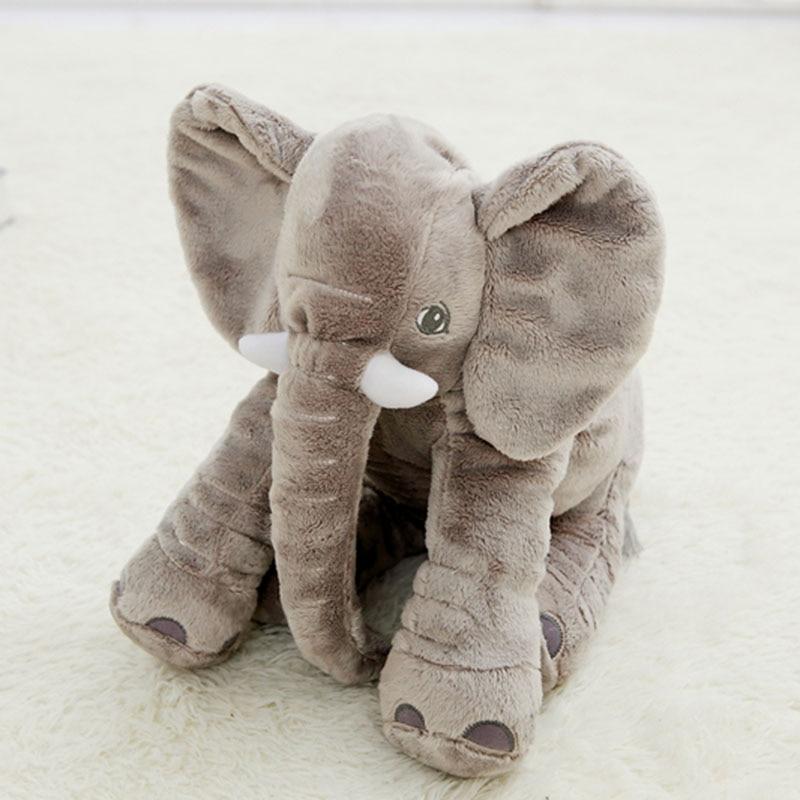 40cm Elephant Plush Toy Grey Purple Pink Blue Elephant Pillow Baby