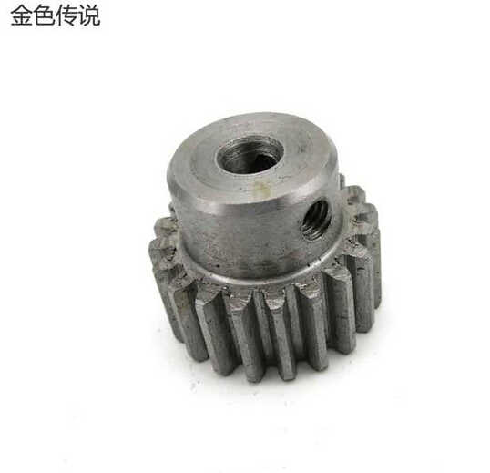 5MM/6MM / 8MM /10MM Hole Metal M1 Modulus Gears Large Torque Gears Drive Rack DIY Model Accessory F17649 / 52