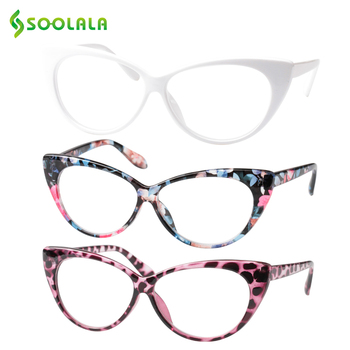 SOOLALA 3 uds Gafas De Lectura tipo ojo De gato para mujeres...
