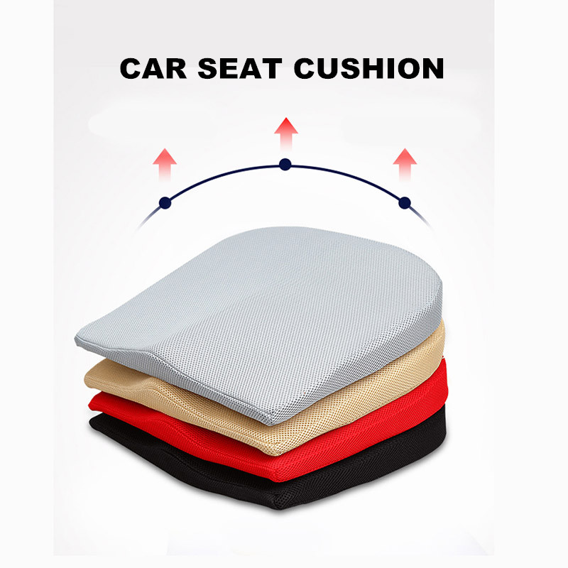 Brethable Increase Car Seat Cushion For Height Interior Accessories Memory Foam Auto Seats Mats For Short People Universal Size(China)