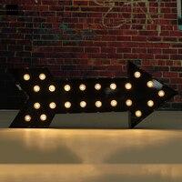 20x50x5cm LED Arrow Light LED Lights Black Fairground Style Lamps Sign Best Promotion New Electric Unit