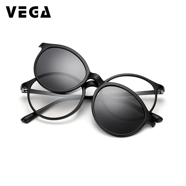 9e76b1b9d7 VEGA Polarized Magnetic Clip On Sunglasses Fit Over Sunglasses Prescription  glasses 2 In 1 Magnetic Glasses