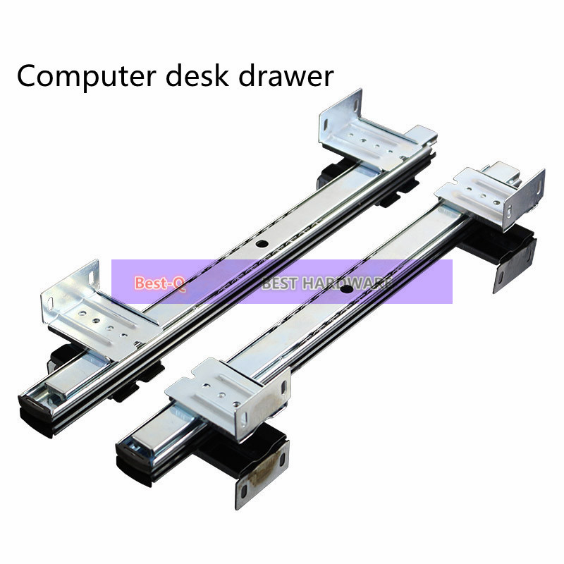 Computer desk drawer orbit keyboard bracket slide rail hoisting crane rail bracket 2 guide rail