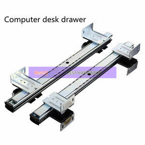Computer desk drawer orbit keyboard bracket slide rail hoisting crane rail bracket 2 guide rail(China)