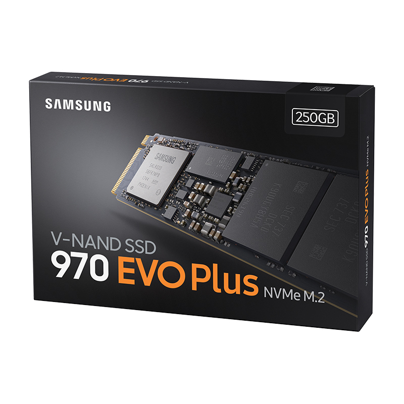 SAMSUNG SSD 970 EVO PLUS 250GB NVMe M.2 SSD Internal Solid State Drive TLC M.2 2280 PCIe 3.0 X4 , NVMe 1.3 3300MB/s For Laptop