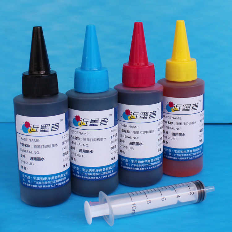 4*100 ml Refill Tinta kit Universal Yang Kompatibel untuk Epson Canon HP Saudara Lexmark DELL Kodak Inkjet Printer Cartridge Tinta Printer