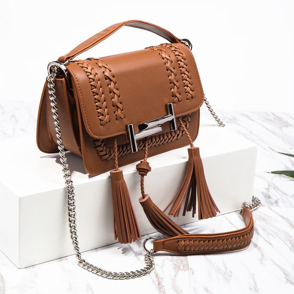 BISON DENIM 2017 Women Messenger Genuine Leather Tassel Weave Bags Shoulder Designer Lady Crossbody Handbag N1339 bison denim genuine leather bags women bucket designer shoulder messenger for women high quality n1364