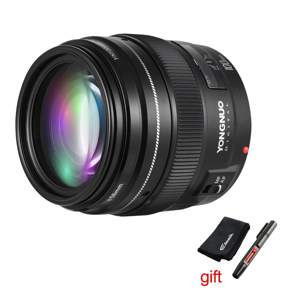 Yongnuo YN100mm F2 Autofocus Moyen Téléobjectif à Focale fixe 100mm Lentille pour Canon EOS Rebel Caméra AF MF 1200D 760D 700D 80D 70D 5D2