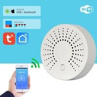 WiFi Smoke Detector Fire Alarm Fire Detector Smart Home Security Alarm System Smart Smoke Sensor SmartLife APP Control