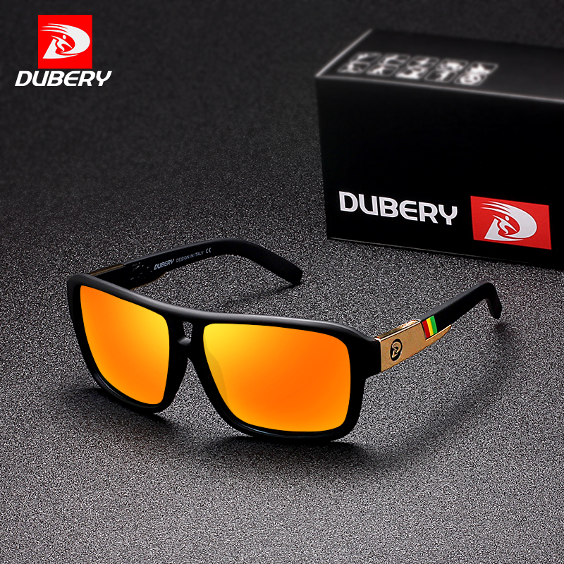 DUBERY Men's Polarized Sunglasses Aviation Driving Sun Glasses Men Women Sport Fishing Luxury Brand Designer Oculos UV400