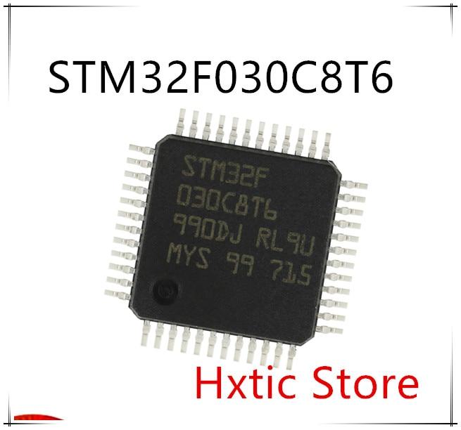 50PCS/lot Nnew STM32F030C8T6 STM32F030 32-bit Microcontroller 48MHZ LQFP-48 IC