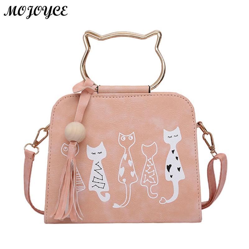 Животных сумка Для женщин Сумки кошка кролик скороговоркой узор плечо сумка через плечо роскошные Сумки Для женщин Сумки модельер