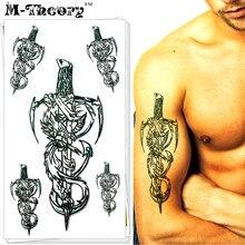 M-Theory Choker Makeup Temporary 3d Sword Tattoos Sticker Flash Tatoos Henna Body Arts Swimsuit Makeup Tools