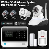 G90B 2.4G WiFi GSM GPRS SMS Wireless Home Security Sistema de Alarme IOS Android APP Controle Remoto Detector de Sensor