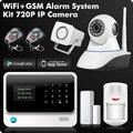 G90B 2,4G WiFi GSM GPRS SMS inalámbrico sistema de alarma de seguridad para el hogar IOS Android APP Sensor de Control remoto