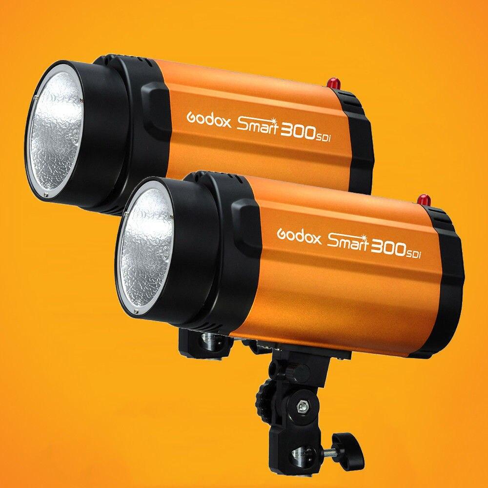 2 x Real Output 300W Godox Smart 300SDI Strobe Flash Studio Light Lamp Head 220V