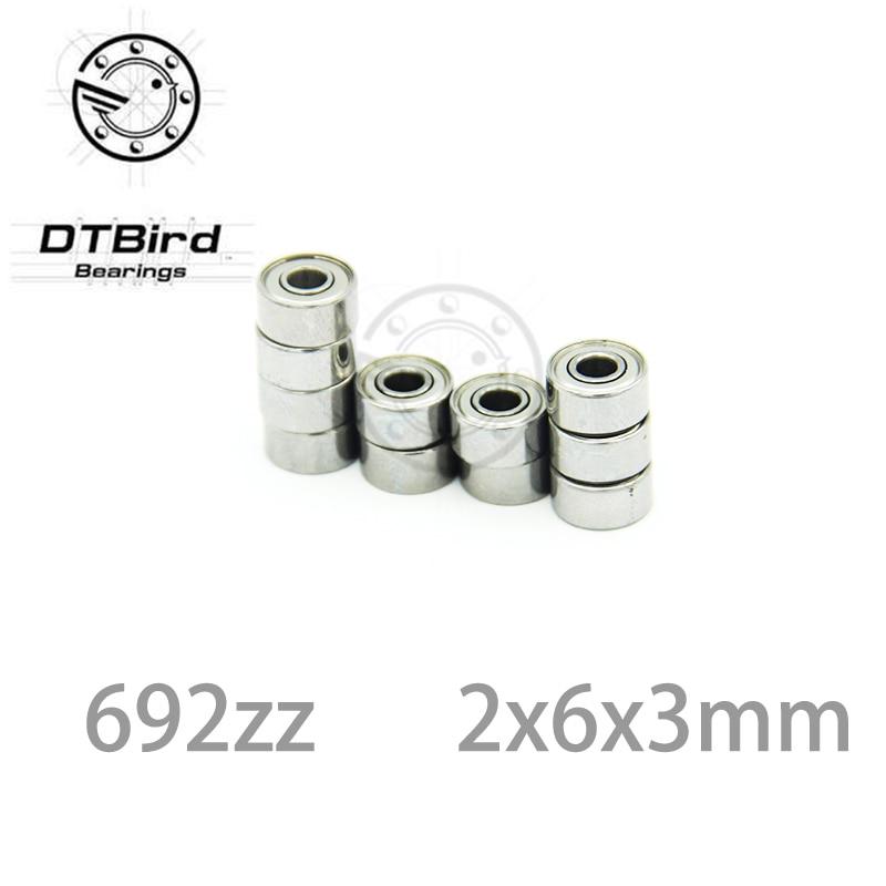 ABEC-3 10pcs 692ZZ 692 ZZ 2x6x3mm Mini Ball Bearing Miniature Bearing Deep Groove Ball Bearing Brand New 2*6*3 MM gcr15 6326 zz or 6326 2rs 130x280x58mm high precision deep groove ball bearings abec 1 p0