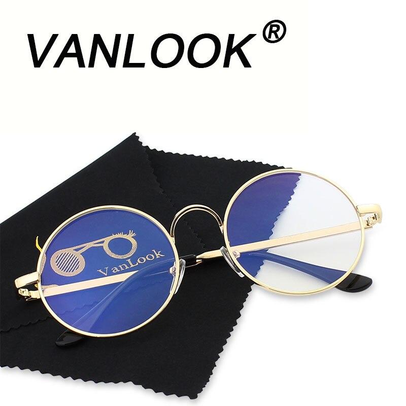 Runde Brille Transparente für Computer Linsen Metall Rahmen Brillen Frauen Männer Anti Blue Ray Oculos De Grau Brillen