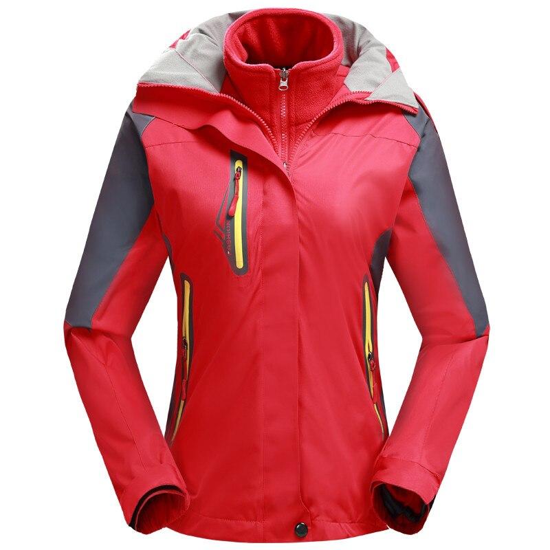 Femmes vestes de Ski imperméables en plein air hiver Snowboard neige veste femmes 3 en 1 coupe-vent respirant thermique polaire vêtements
