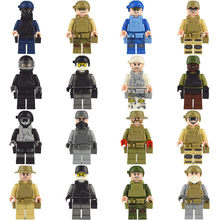 wholesale Military World War 2 SWAT Soldiers Army Special Forces Model Building Blocks Bricks Figures Toys for Boys Gifts(China)