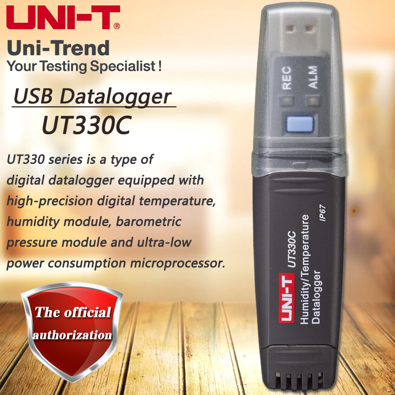 UNI-T UT330C USB Data Logger Mini PC Connection Temperature / Humidity / Pressure Measurement Meter Data Storage Data Readback az 7788 desktop co2 temperature humidity monitor data logger air quality detector