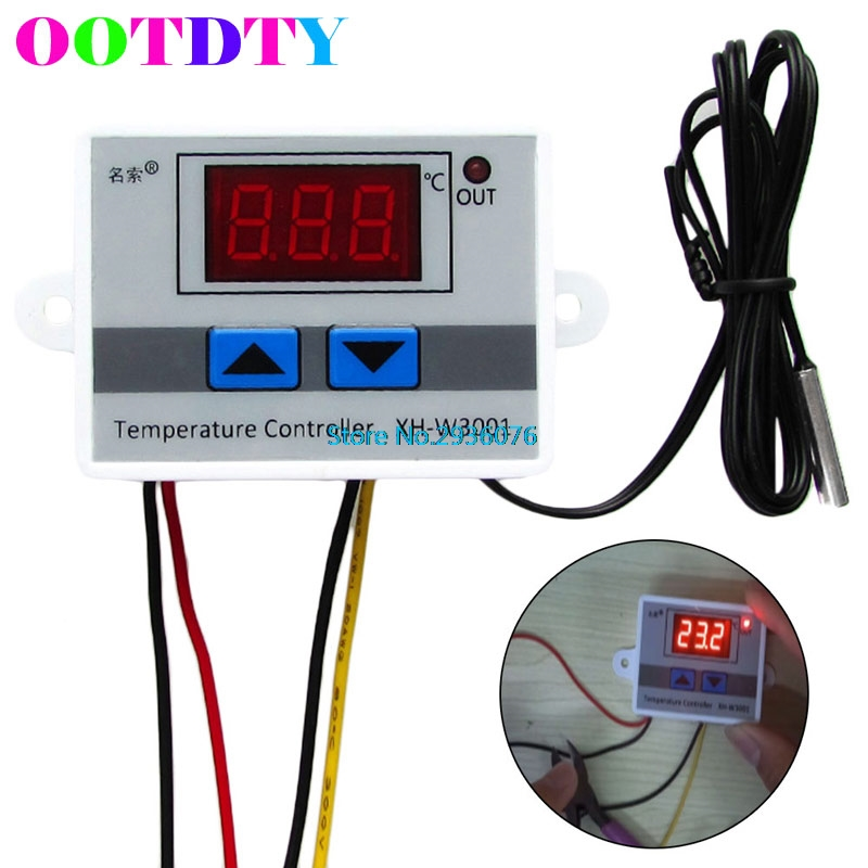OOTDTY Digital LED Temperature Controller Thermostat Control Switch Probe 220V 10A Drop Shipping Support MAR23_35  цены