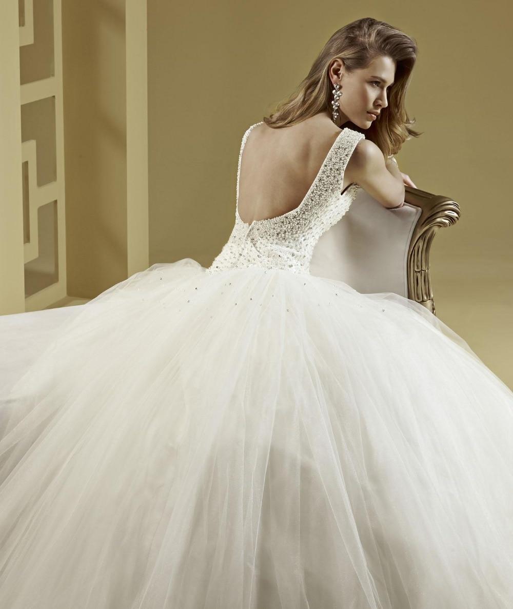 V Neck Ball Gown Tulle Crystal Beading Greek Style Wedding Dress ...