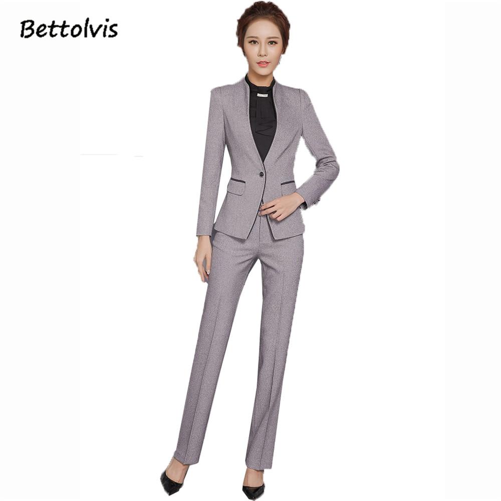 2018 Herfst vrouwelijke elegante broekpakken Dames set werkkleding - Dameskleding