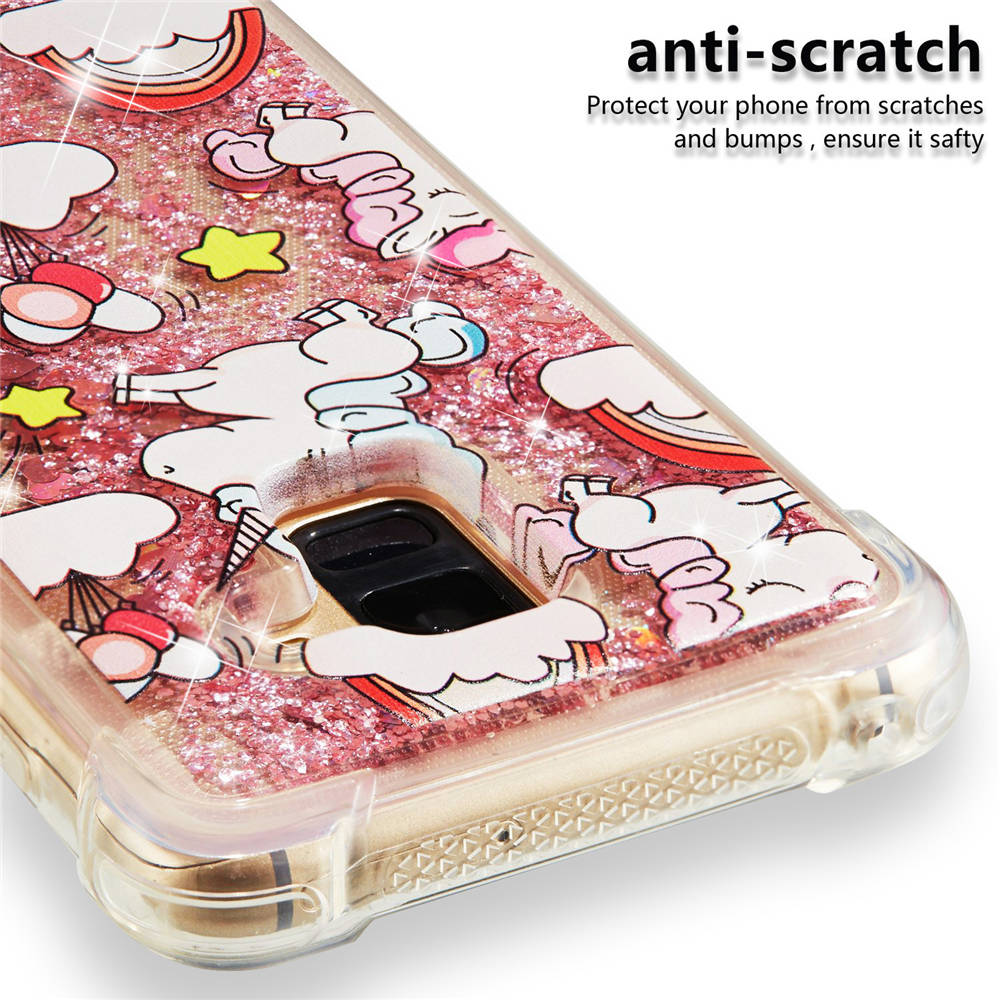 Phone Case On For SAMSUNG Galaxy A8 2018 SM-A530F A530F/DS 64GB Glitter  Quicksand Diamond Cover A8 2018 Cases Shine Full Housing