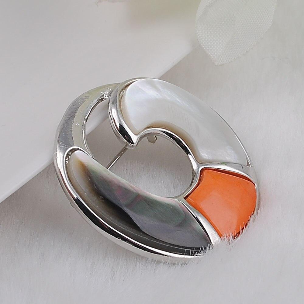 Bijuterie Natural Shell Dubai Smykker Broche Brand Kvinder Bryllup - Mode smykker - Foto 6