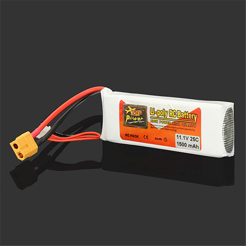 High Quality ZOP Power 3S 11 1V 1500MAH 25C Battery XT60 Plug Rechargeable Lipo Battery