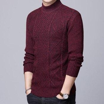 916978db3 2019 nueva marca de moda suéter para hombre jersey de Grado Superior Slim  jerséis Knitred gruesa otoño coreano estilo Casual ropa