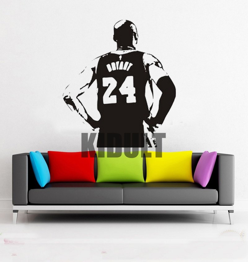 Kobe Bryant Los Angeles Lakers Basketball Star Wall Stickers Vinyl Wall Decals Home Decor Club Bedroom