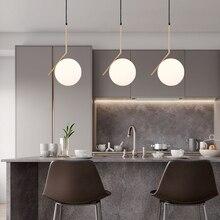20 cm Moderne Glazen Bal Hanglamp Armatuur Ronde Iron armatuur Metalen Lamp Designer Glas Glans
