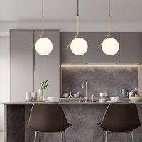 20cm Modern Glass Ball Pendant Light Fixture Round Iron luminaire Metal Lamp Designer Glass Luster