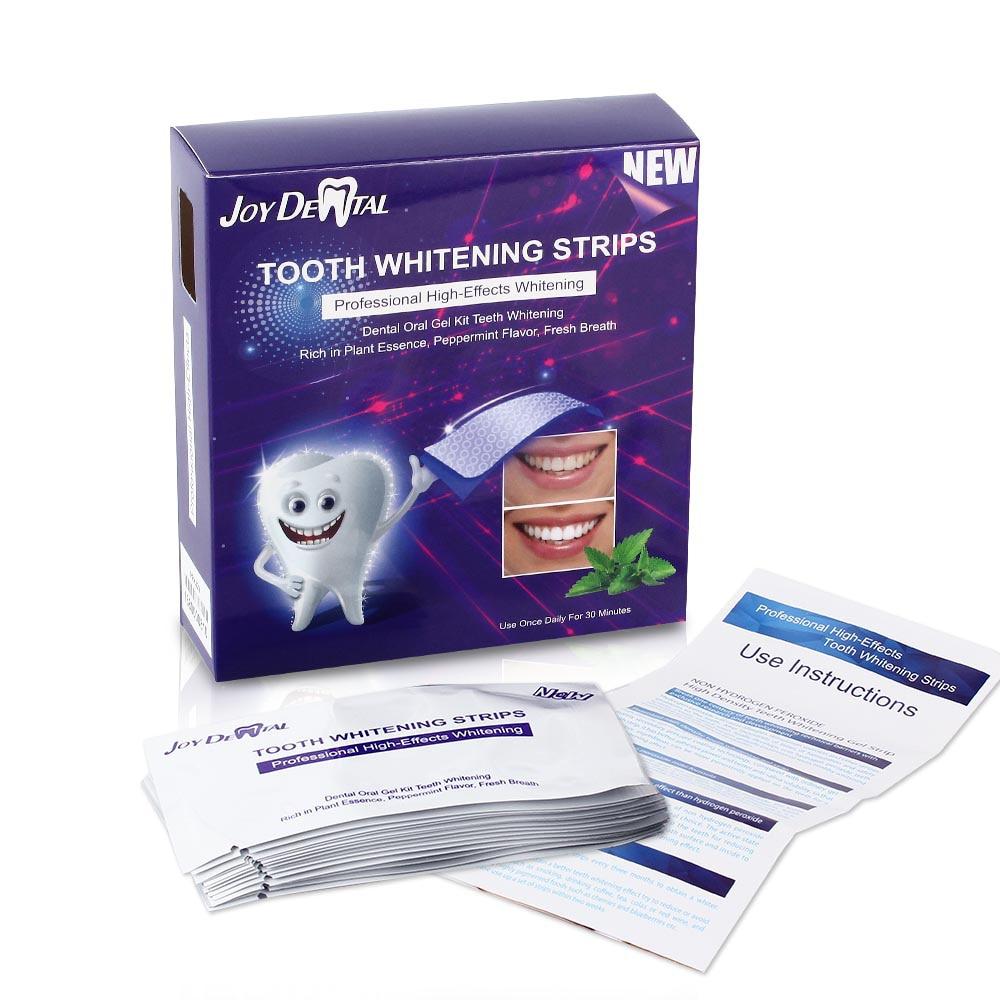 14 Pouch/28pc Teeth Whitening Strips High-Effects Teeth Bleaching Gel Advanced Whitening Teeth Oral Hygiene(No Box)