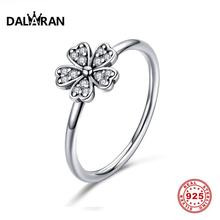 DALARAN Daisy Flower Finger Wedding Rings 100% Real 925 Sterling Silver Creative Romantic Ring For Women Party Fine Jewelry Gift