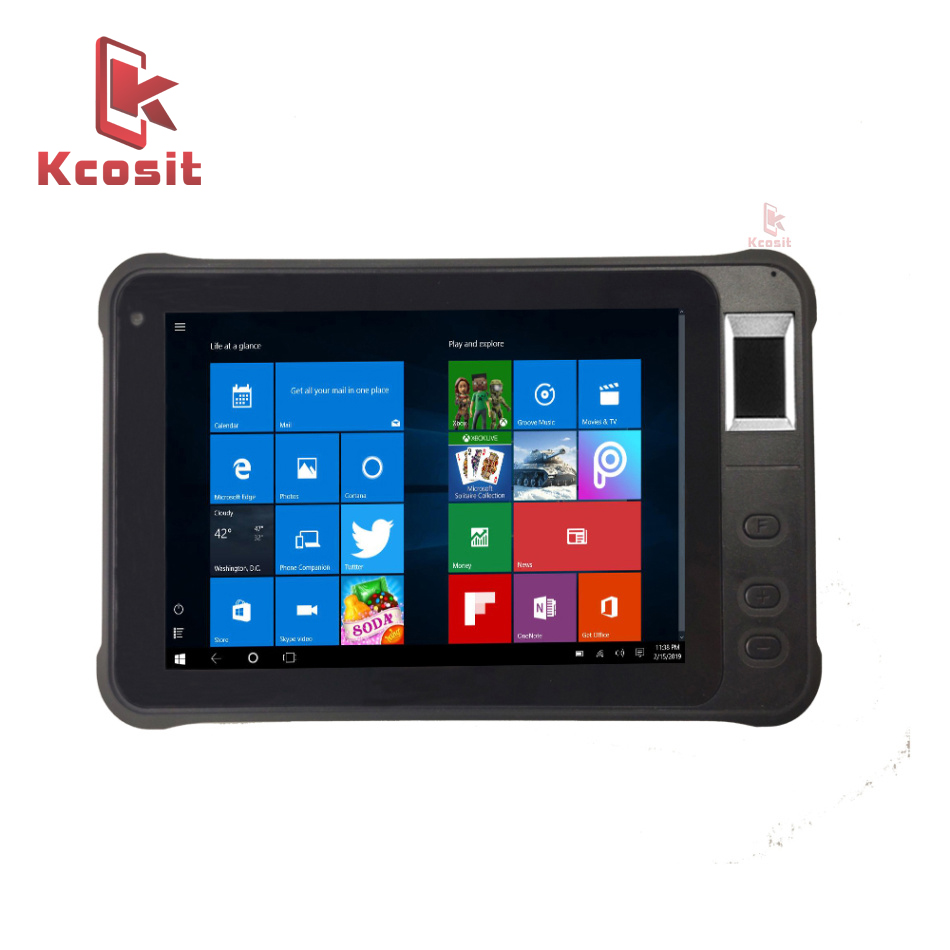 Original Kcosit K75 Rugged Windows 10 Home Tablet PC Fingerprint Recognition UHF RFID IP67 Waterproof 7