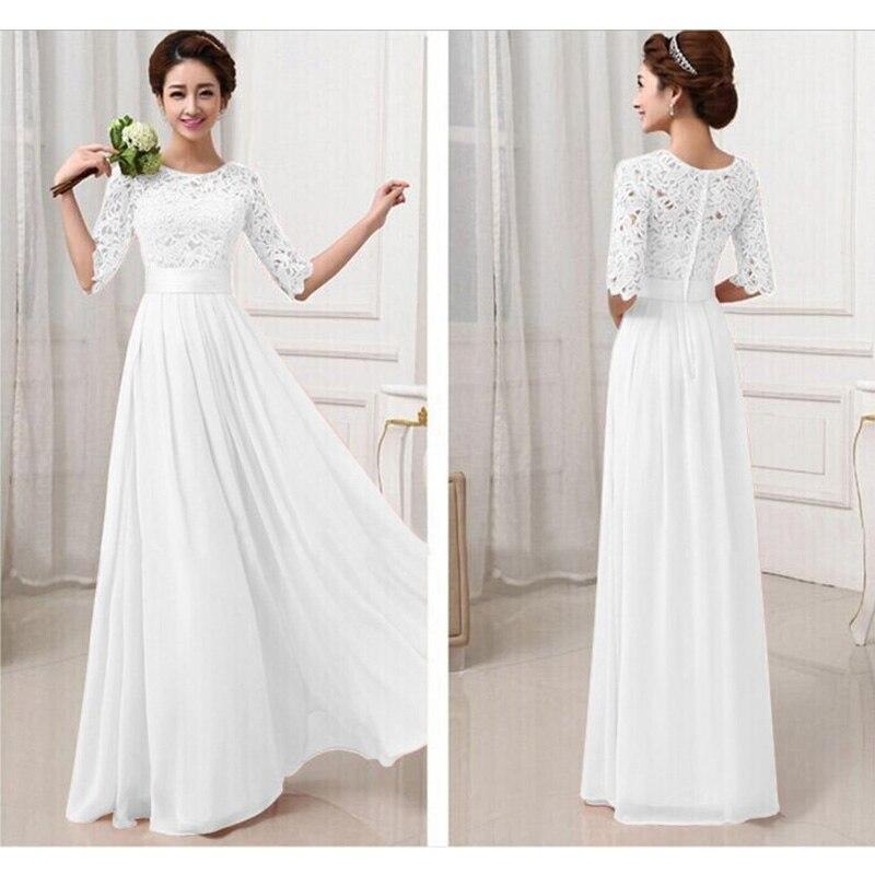 Платье на свадьбу с коротким рукавом