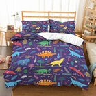 2/3Pcs Boys Dino Bed...