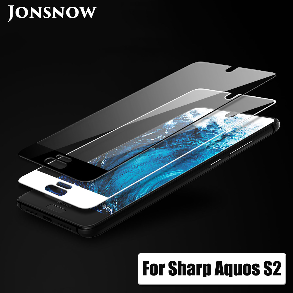 JONSNOW Full Coverage Glass For Sharp Aquos S2 Tempered Glass for Aquos C10 9H Explosion-proof Screen Protector Protective Film