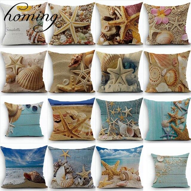 Moderne Kissenbezüge ozean stil muster kissenbezüge dekorative sofa kissenbezug