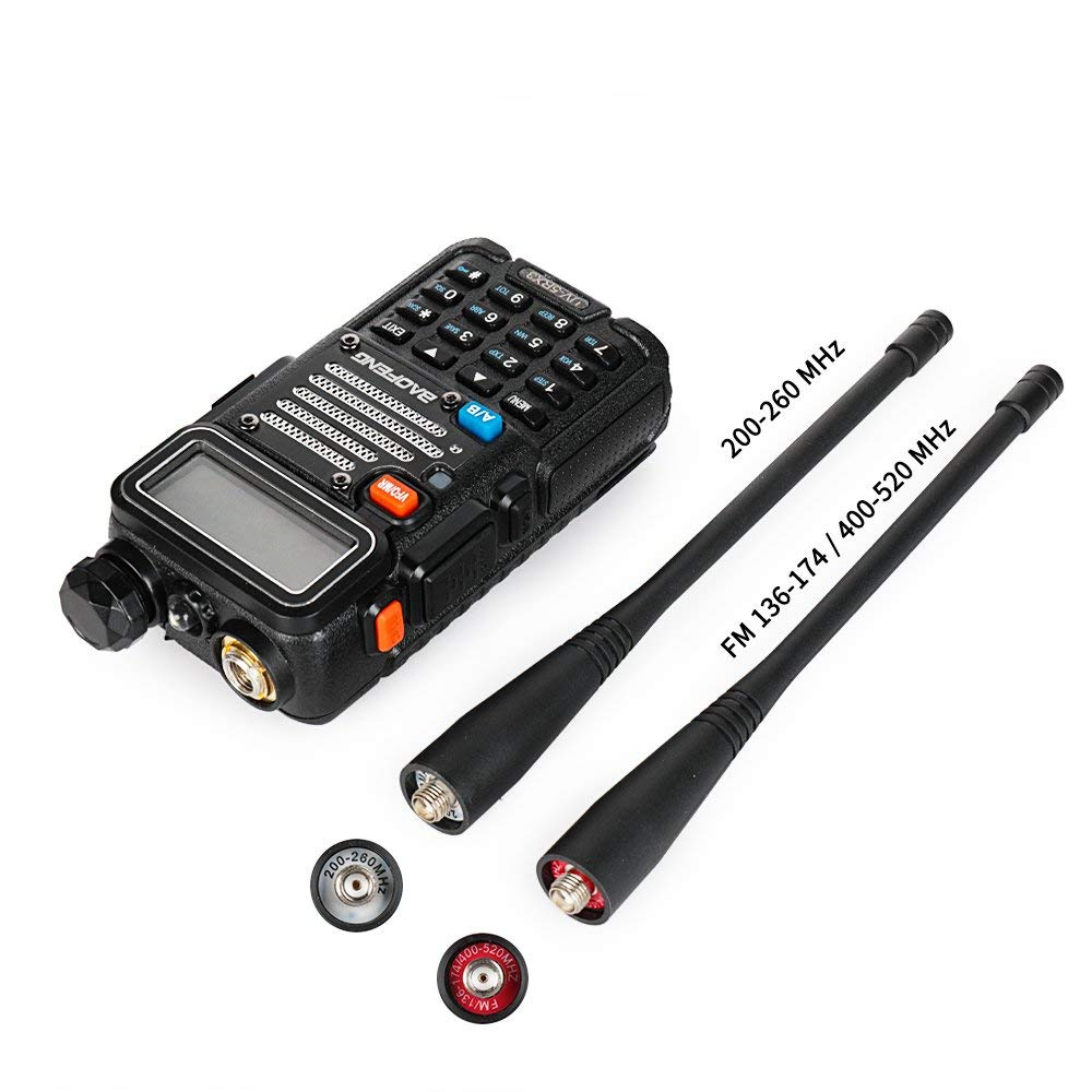 Baofeng UV 5RX3 Tri Band With 1 25M 2 Antennas 136 174 220 225 400 520 5W VFO VHF UHF Two Way Radio Amateur Handheld Ham in Walkie Talkie from Cellphones Telecommunications