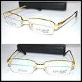 Реальная картина оптическая на заказ оптические линзы титановый сплав half-диска золотой оправе очки для чтения + 1 + 1.5 + 2 + 2.5 + 3 + 3.5 + 4to + 6