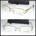 Real picture Optical Custom made optical lenses Titanium alloy semi-rim GOLD frame Reading glasses +1 +1.5 +2+2.5 +3 +3.5 +4to+6